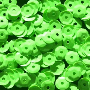 DISCONTINUED 6mm Glossy Bright Green Opaque Semi-cupped Sequins x 12g  SAVE £2